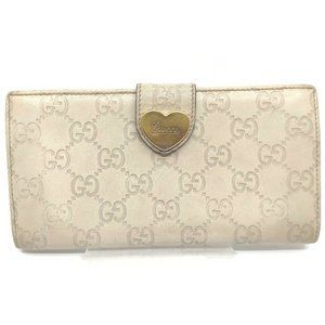 authentic Gucci Long Wallet Gucci Sima Whites